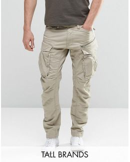 Tall Rovic Zip Cargo Pants 3d Tapered