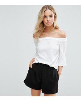 Bardot Fluted Sleeve Top