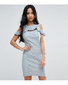 Lace Cold Shoulder Mini Dress