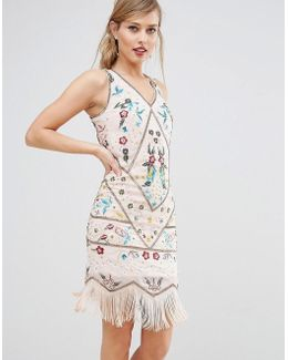 Frock & Frill Embroidered Flapper Dress