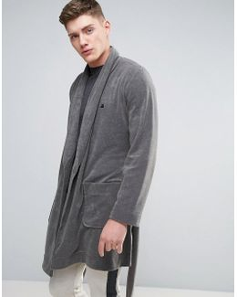 Shawl Neck Towelling Robe With Logo