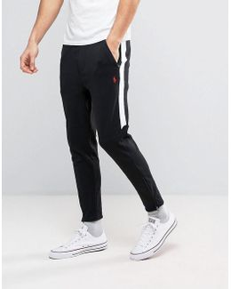 Slim Fit Tapered Jogger With Zip Hem In Black