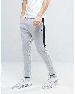 Slim Fit Tapered Jogger With Zip Hem In Grey