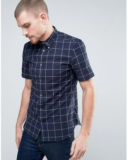 Short Sleeve Shirt In Regular Fit With Check