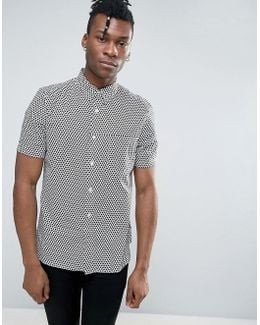 Short Sleeve Shirt In Regular Fit With All Over Print
