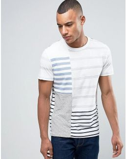 T-shirt With Patchwork Detail