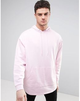 Oversized Super Longline Hoodie With Stepped Hem