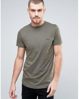Longline T-shirt With Fcuk Chest Branding
