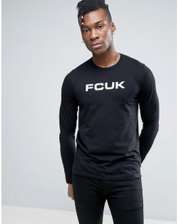 Long Sleeve Top With Fcuk Print