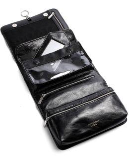 Leather Hanging Wash Bag