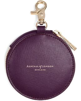 Round Coin Purse With Keyring