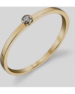 14k White Diamond Ring