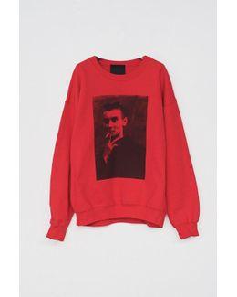 Cotton Red Sinead Sweatshirt