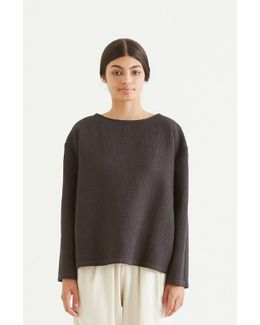 Cotton Blend Pullover - Charcoal