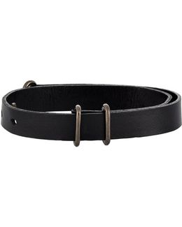 Leather Visor Cuff Bracelet