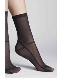 Nylon Sheer Socks - Black