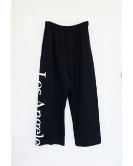 Cotton Logo Sweatpants - Los Angeles