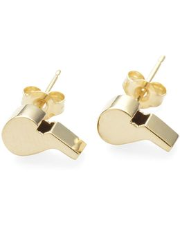 14k Gold Whistle Studs