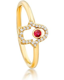 Hamsa Fine Biography Ring