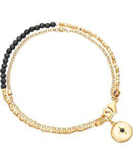 Black Spinel Locket Biography Bracelet