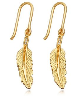 Feather Biography Drop Earrings