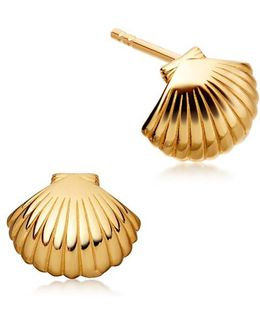 Mini Shell Biography Stud Earrings
