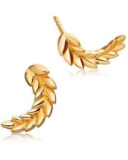 Mini Olive Crown Biography Stud Earrings