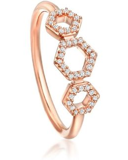 Triple Honeycomb Ring