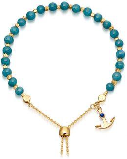 Blue Apatite Super Kula Anchor Bracelet