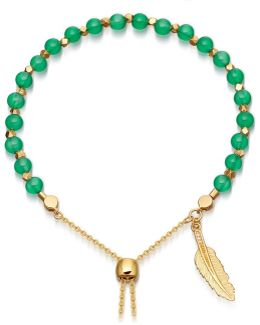 Green Onyx Super Kula Feather Bracelet