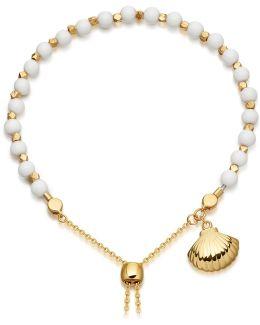 White Jade Super Kula Shell Bracelet