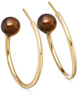 Tigers Eye Ezra Hoop Earrings