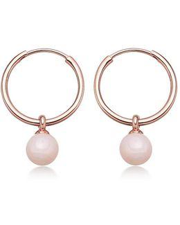 Pink Opal Vera Drop Hoop Earrings