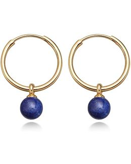 Lapis Vera Drop Hoop Earrings