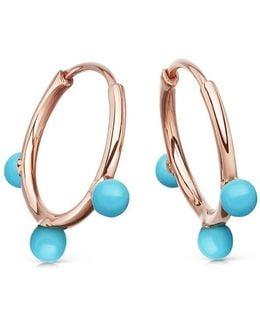 Turquoise Hazel Hoop Earrings