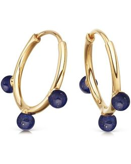 Lapis Hazel Hoop Earrings