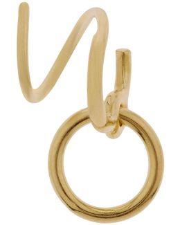 Gold Saga Twirl Earring
