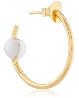 Gold & Silver Medi Hoop Earring
