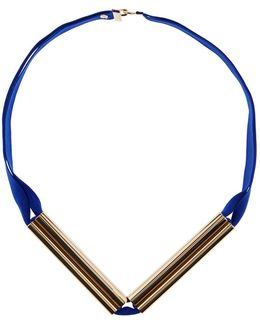 Cobalt Blue & Gold Link Necklace