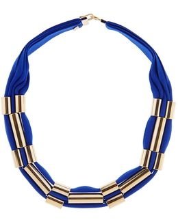 Cobalt Blue & Gold Cleopatre Necklace