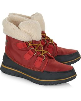 Red Cozy Carnival Fleece Boots
