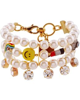 Good Time Pearl Charm Cuff