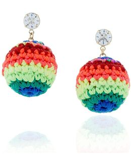 Neon Rainbow Road Earrings