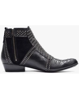 Charlie Studded Leather Ankle Boots