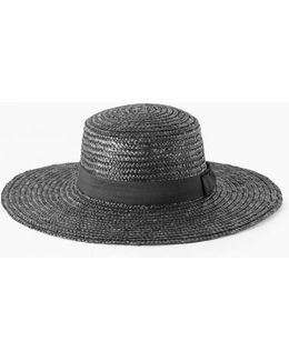 Flat Crown Boater Hat