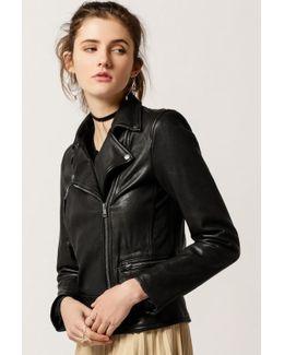 Genuine Leather Moto Jacket