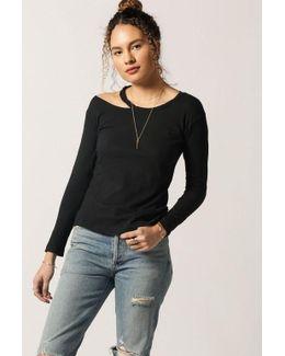 Torn Shoulder L/s Sweater