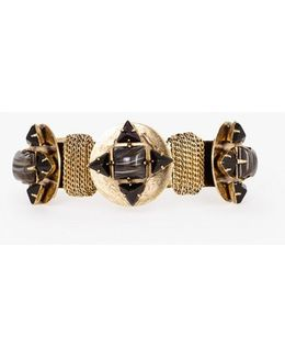 Triple Gem Disc Cuff