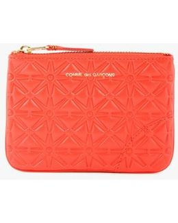 Star Embossed Small Pouch