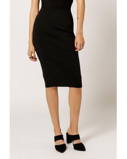 Over The Knee Pencil Skirt